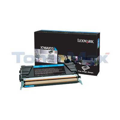 LEXMARK X746 TONER CARTRIDGE CYAN